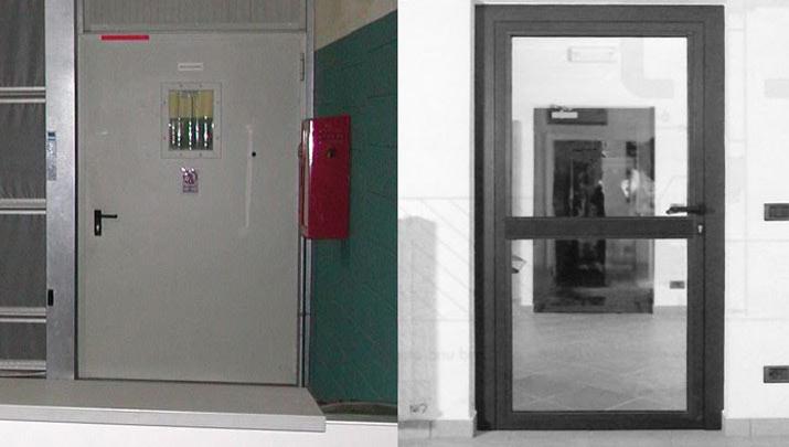 Porte tagliafuoco chiusure rigide industriali tagliafuoco for Porte tagliafuoco